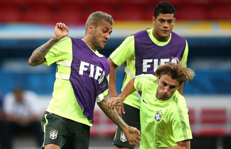 Тренировка сборной Бразилии