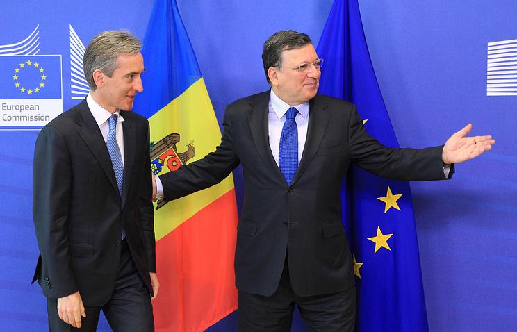 Юрие Лянкэ и Жозе Мануэль Баррозу