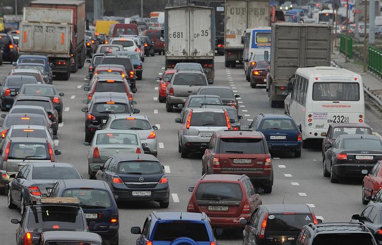 Автомобильная пробка на Ярославском шоссе