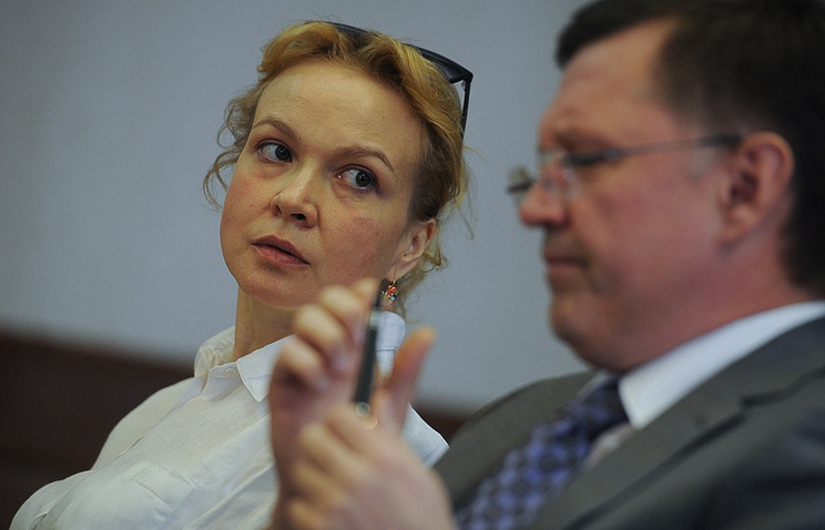 Аксана Панова в зале Свердловского областного суда