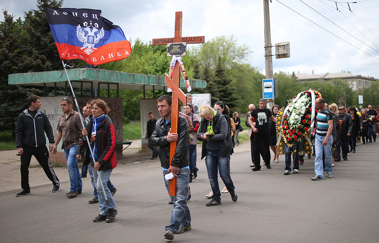 Похороны погибших в Краматорске