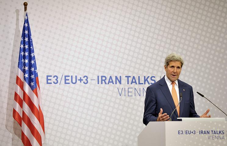 Пресс-конференция госсекретаря США Джона Керри в Вене. 15 июля
