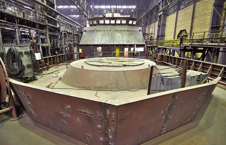 В эллинге судостроительного завода «Северная верфь»