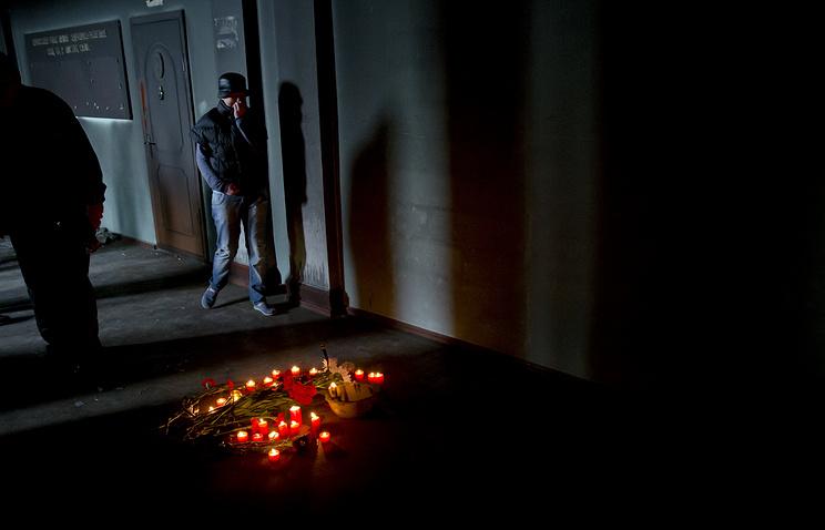 На месте трагических событий в Доме профсоюзов в Одессе. Архив