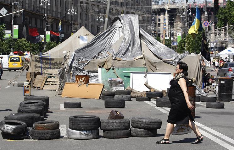 Улица Крещатик, 28 мая 2014 года