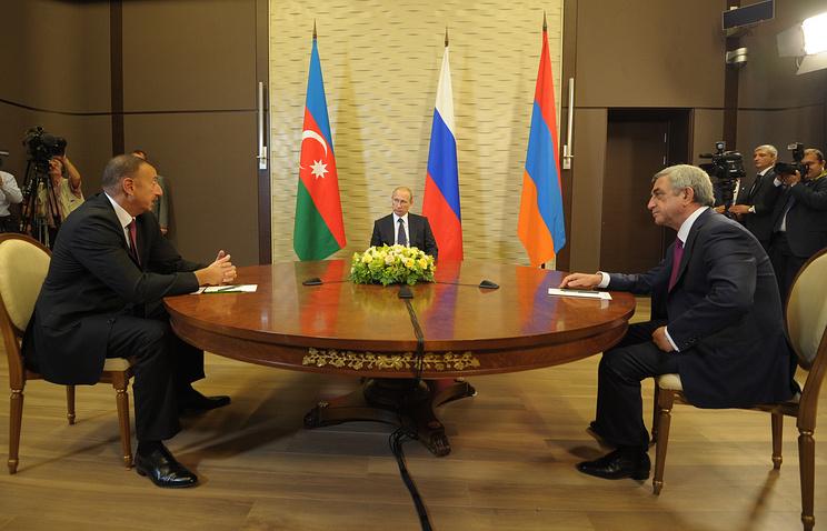 Ильхам Алиев, Владимир Путин и Серж Сарсгсян
