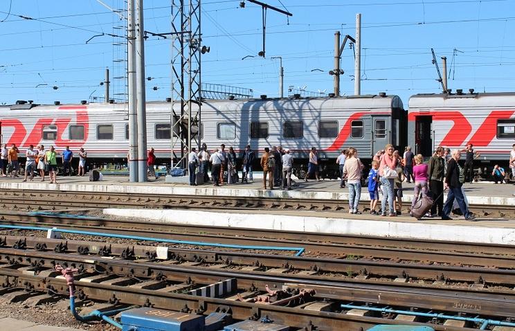 Эвакуация пассажиров и персонала железнодорожного вокзала Екатеринбурга