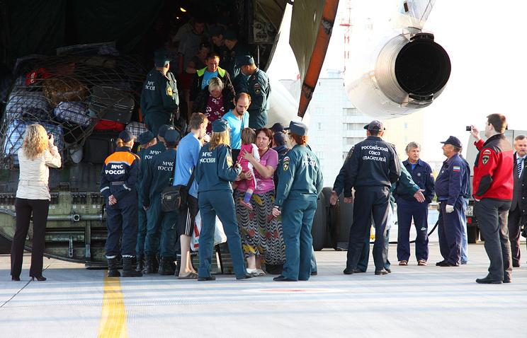 Прибытие вынужденных переселенцев с Украины в Екатеринбург