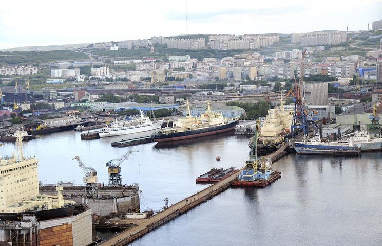 Морской торговый порт Мурманска