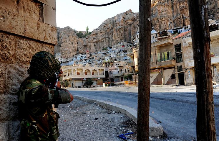 Во время операции по освобождению Маалюли от боевиков сирийской оппозиции
