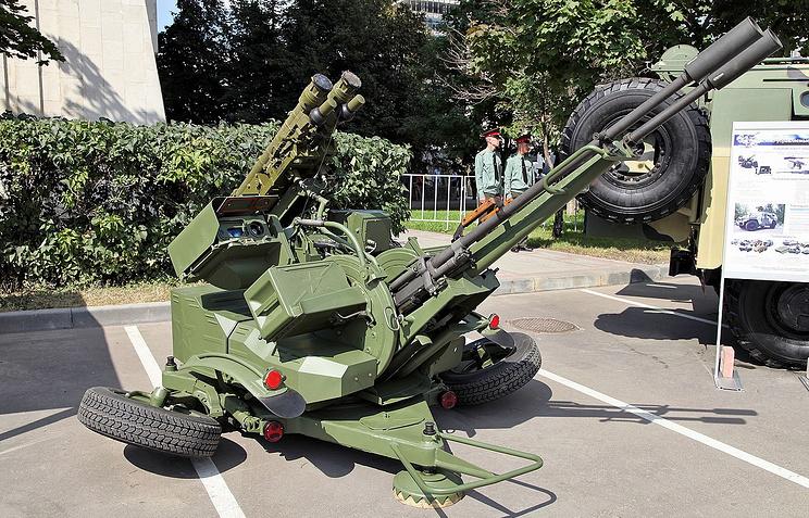 Советская зенитная установка ЗУ-23. Архив