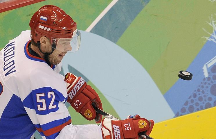 Виктор Козлов в матче за сборную России на Олимпиаде-2010 в Ванкувере