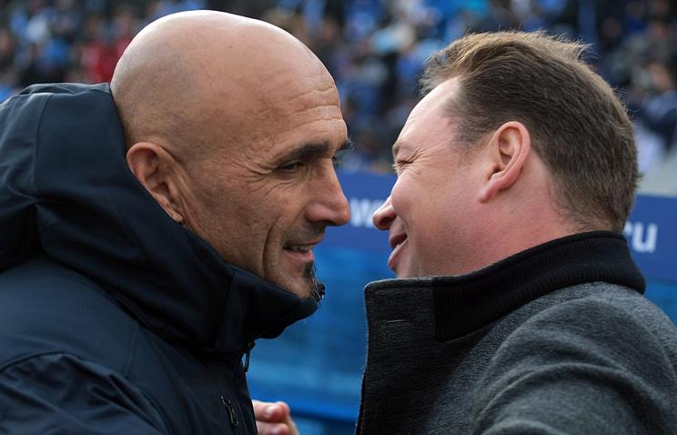 Лучано Спаллетти (слева) и главный тренер ЦСКА Леонид Слуцкий