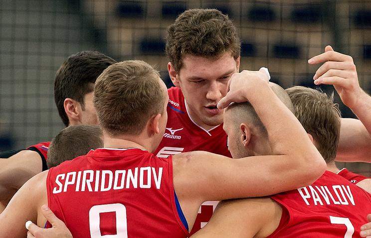 Игроки сборной России по волейболу