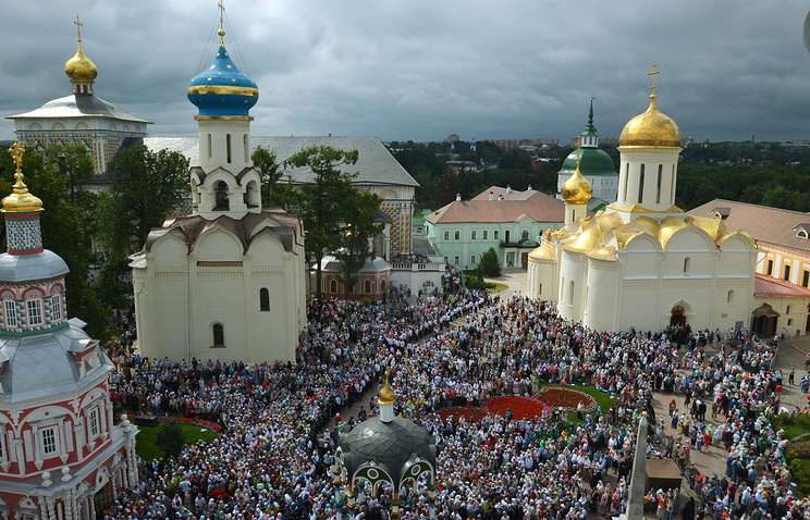 Во время мероприятий, посвященных 700-летию со дня рождения преподобного Сергия Радонежского в Сергиевом Посаде. Июль 2014 года