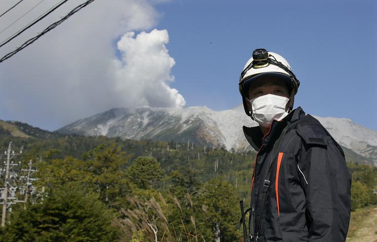 Вулкан Онтакэ. Япония