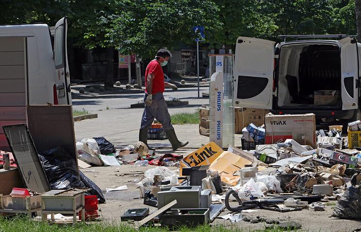 Последствия наводнения в Сербии