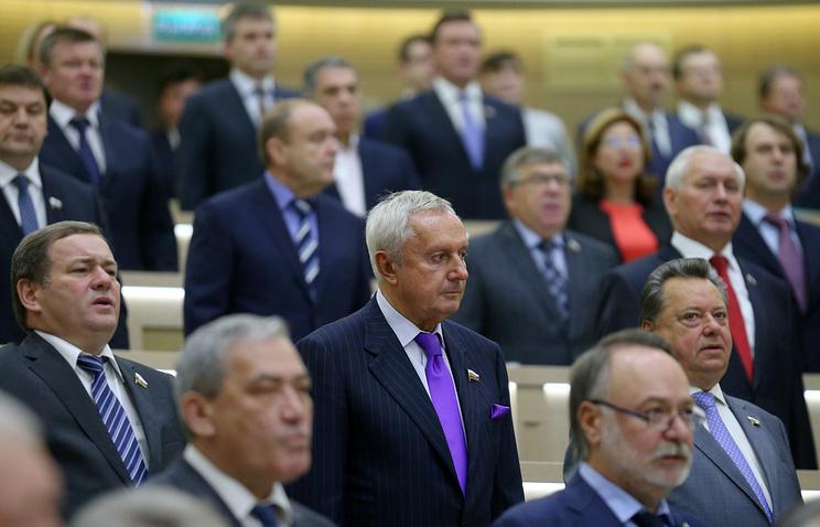Пленарное заседание Совета федерации РФ 1 октября 2014 года