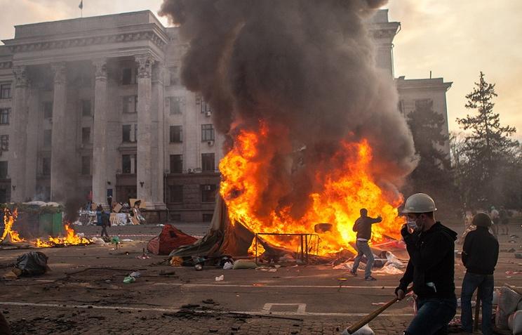 Пожар у здания Дома профсоюзов в Одессе, 2 мая