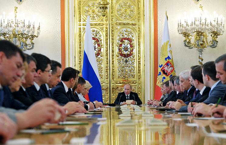 Владимир Путин выступает с Бюджетным посланием, архивное фото, 2012 год