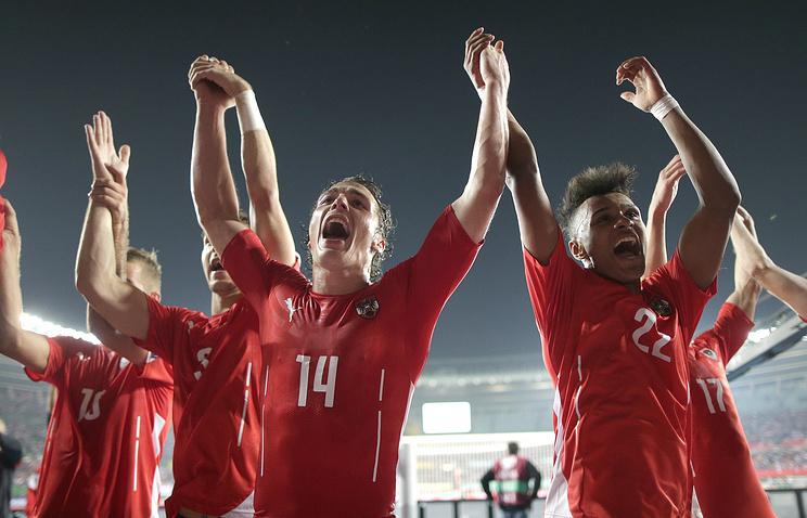 Футболисты сборной Австрии