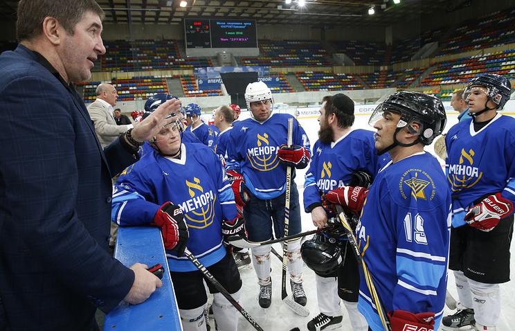 """Матч по хоккею между командой """"Менора"""" и командой """"Легенды хоккея"""""""