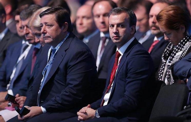 Вице-премьеры РФ Александр Хлопонин и Аркадий Дворкович