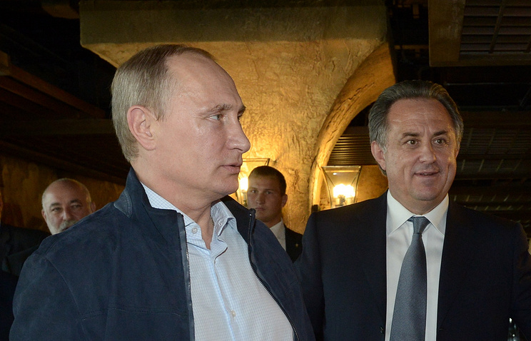 Владимир Путин и министр спорта Виталий Мутко