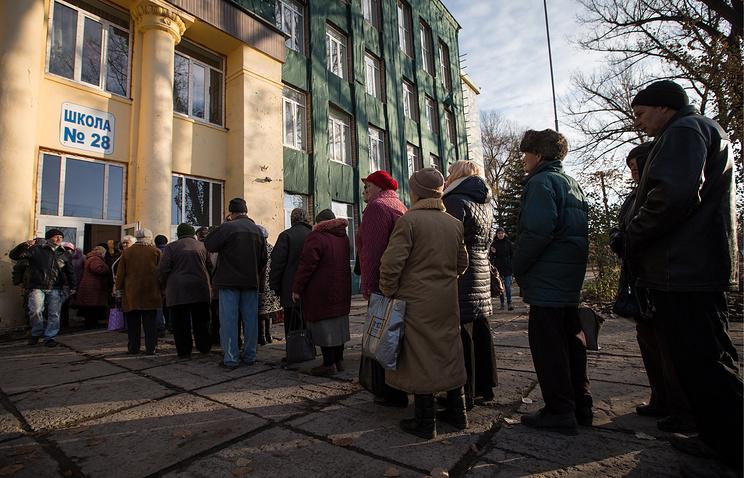 Избирательный участок в Луганске
