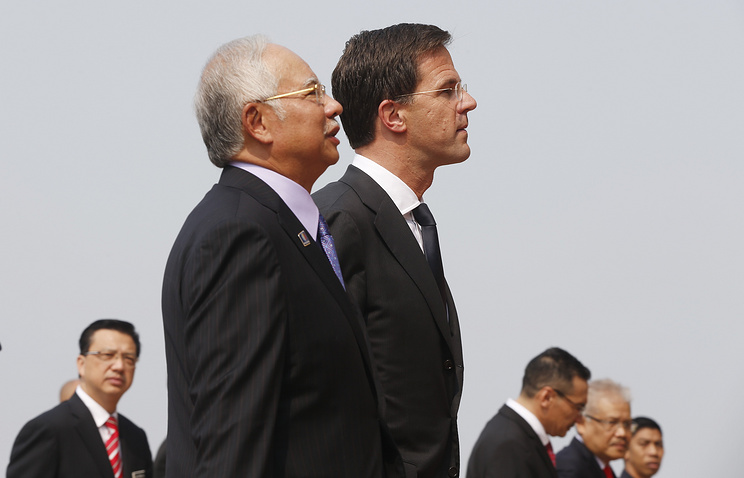 Премьер-министр Малайзии Наджиб Тун Разак и премьер-министр Нидерландов Марк Рютте