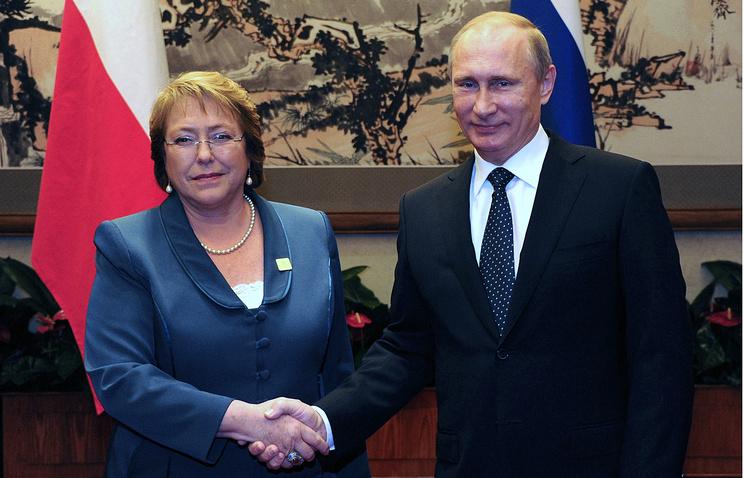 Мишель Бачелет и Владимир Путин