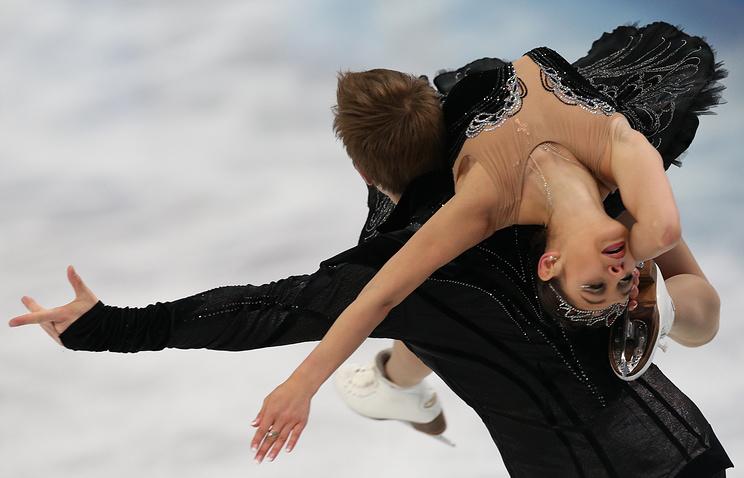 Елена Ильиных во время выступления на ОИ-2014