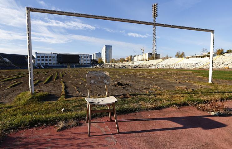 Демонтаж Центрального стадиона перед началом строительства арены к ЧМ 2018 года