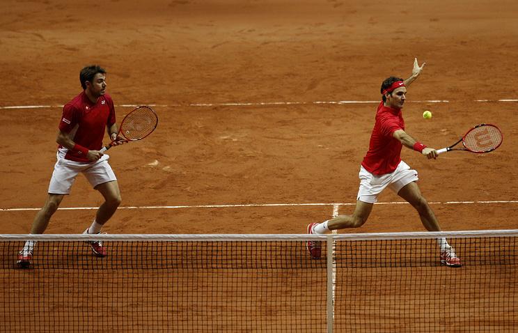 Стэн Вавринка и Роджер Федерер (слева направо)