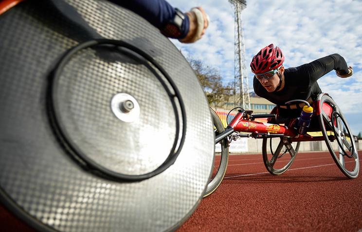 Биатлонисты параолимпийской сборной России.