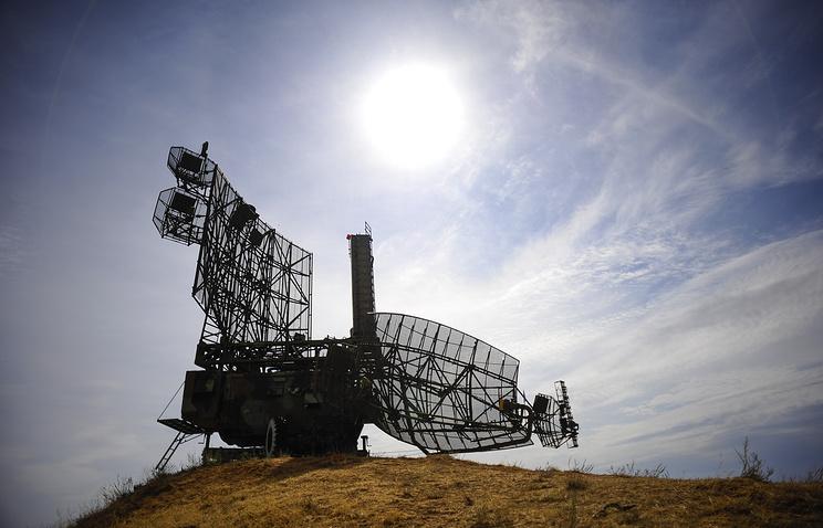 Радиолокационная станция системы ПВО С-300 на крупномасштабных российских учениях