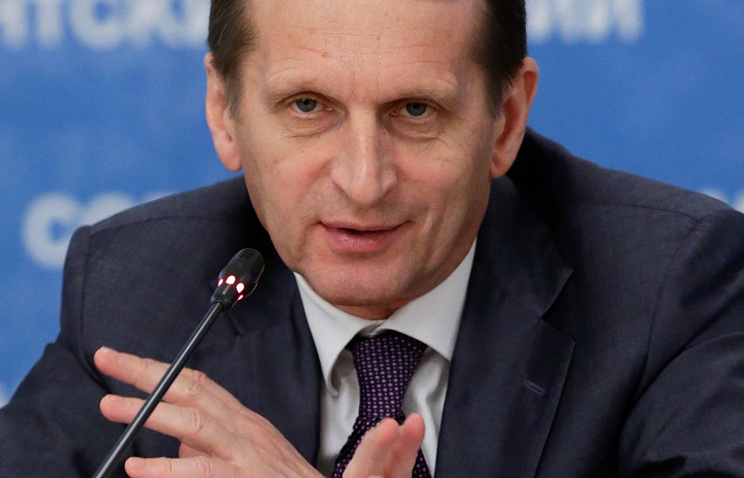 Спикер Государственной думы РФ Сергей Нарышкин