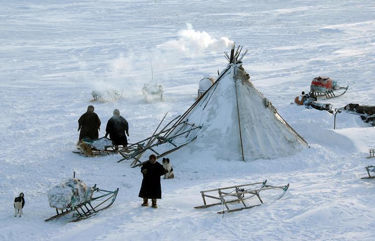 Жители района озер Ярато на полуострове Ямал