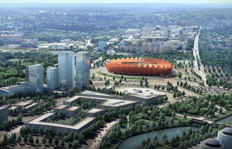 Макет стадиона к ЧМ-2018 в Саранске