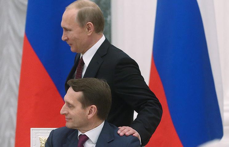 Президент России Владимир Путин и председатель Госдумы Сергей Нарышкин