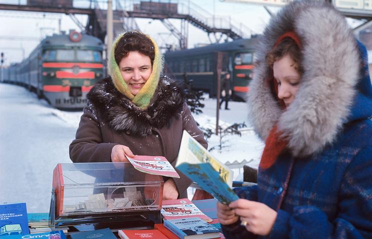 Государственная лотерея на вокзале Барнаула, 1978 год