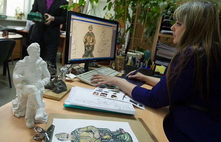Макет и эскизы скульптуры Василия Теркина