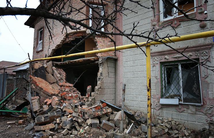 На одной из улиц Донецка
