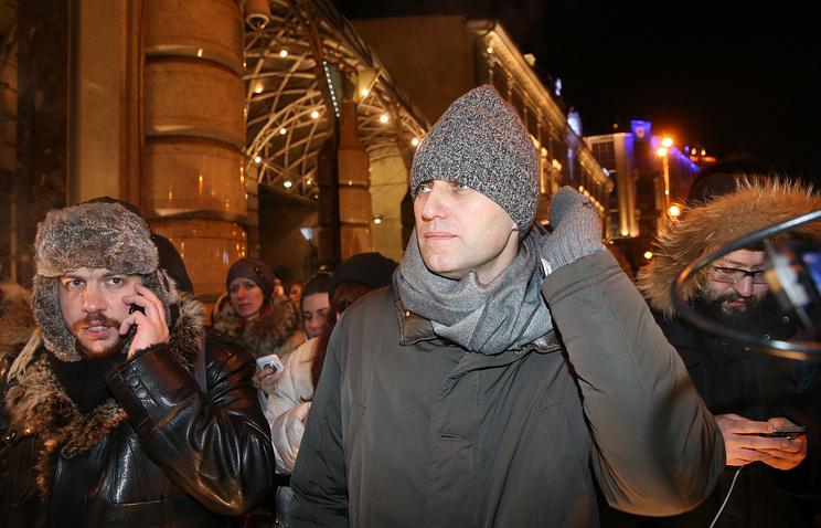 Алексей Навальный на Тверской улице