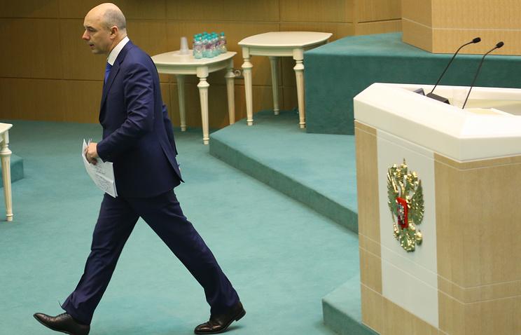 Министр финансов РФ Антон Силуанов на заключительном заседании осенней сессии СФ РФ