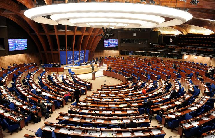 Заседание Парламентской Ассамблеи Совета Европы в Страсбурге