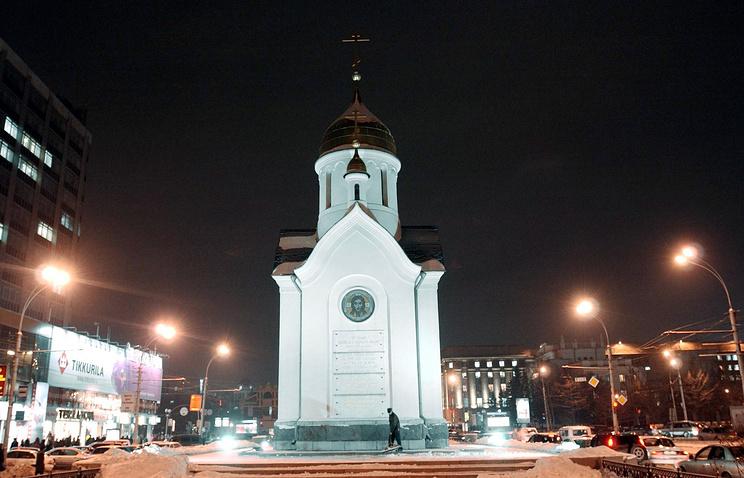 Один из символов Новосибирска - часовня Святителя и Чудотворца Николая на Красном проспекте