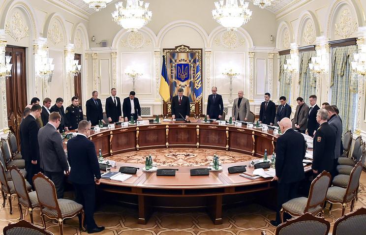 Экстренное заседание Совета национальной безопасности и обороны Украины
