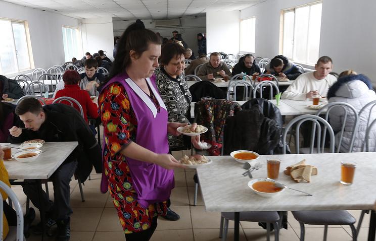 Пункт временного размещения беженцев из Украины