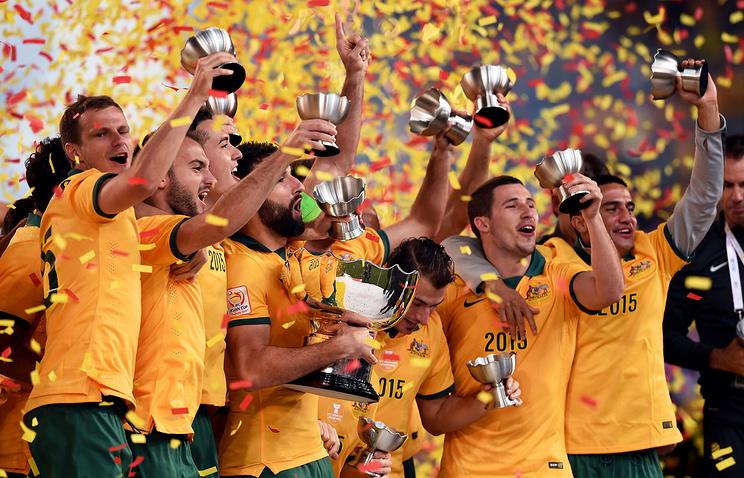 Футболисты сборной Австралии - победители Кубка Азии